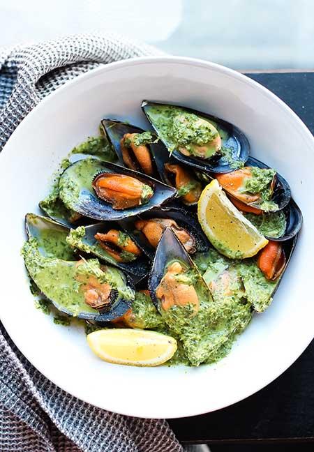 receta mejillones salsa verda