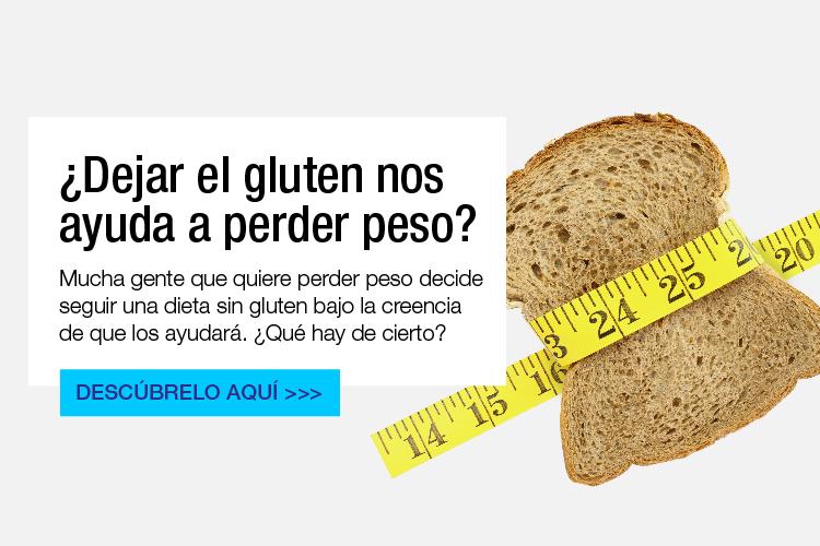 Perder peso con una dieta sin gluten es posible