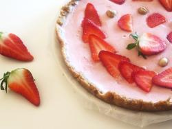 Pastel de agar-agar y fresas
