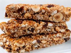 Turrones de cereal inflado, semillas y frutos secos