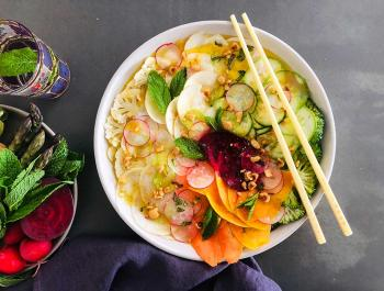 Carpacho Arcoíris de verduras mensajeras de vida