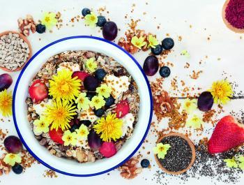 Flores para decorar… y comer