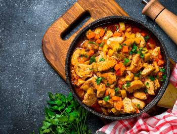 7 platos de cuchara con pollo