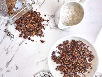 Granola ceto con chocolate casero