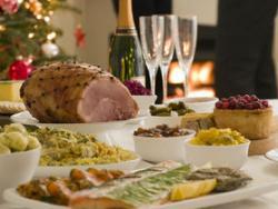Un menú con alimentos kilométricos por Navidad