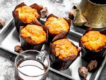 Muffins de almendra veganos