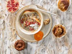 Muffins de almendra con opción vegana