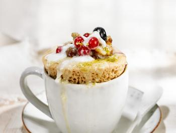 Panetone a la taza sin gluten