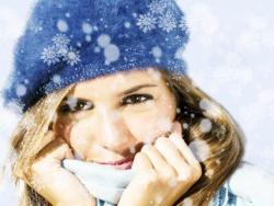 Manos, cara y labios protegidos del frío