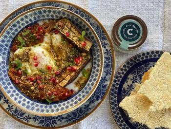 Huevos turcos con dukkah