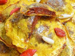 Raviolis de calabaza con corazón de tomate