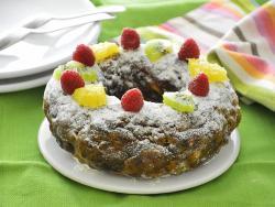 Roscón de Reyes con frutas