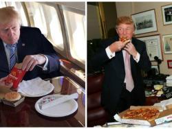 Trump, en la Casa Blanca con un BigMac