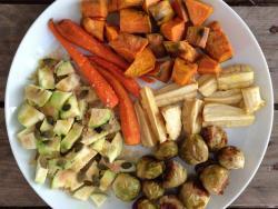 Verduras al horno para ayudar a conciliar el sueño